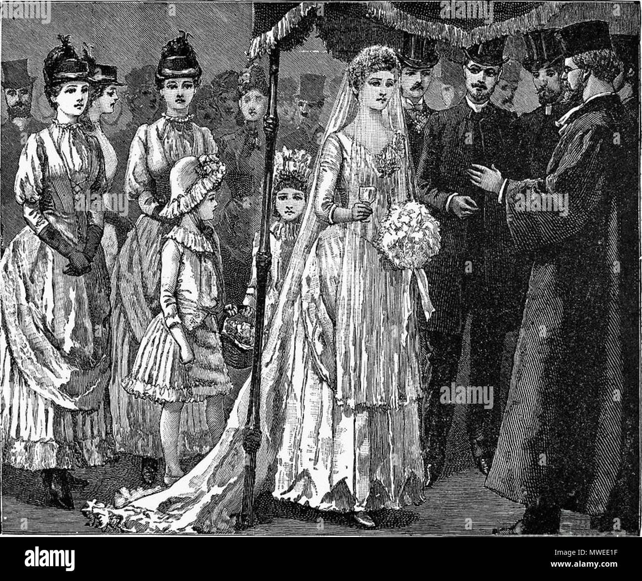 Englisch Judische Trauung C 1892 Ursprungliche Quelle Von John