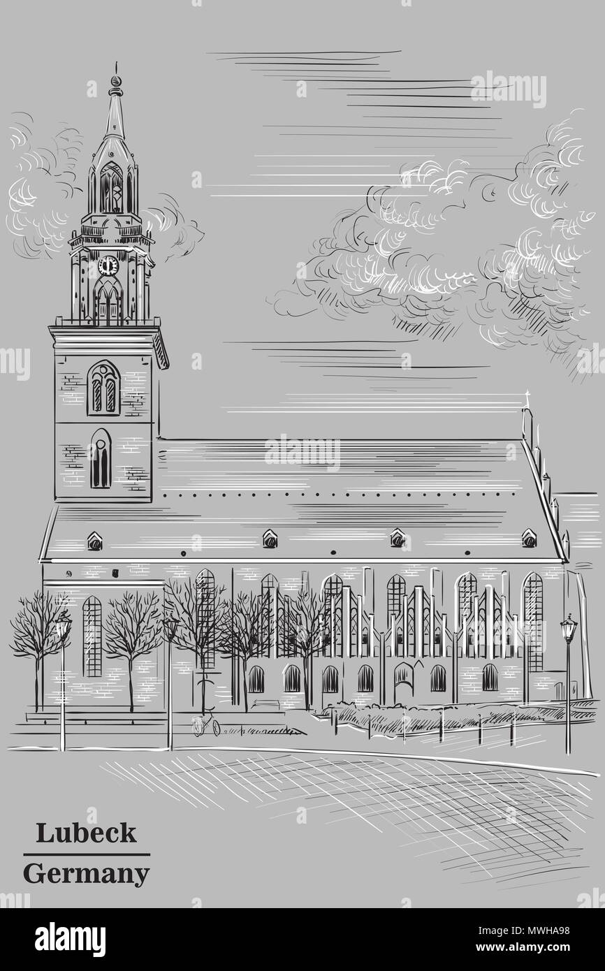 Sketch With Cathedral Stockfotos & Sketch With Cathedral Bilder ...