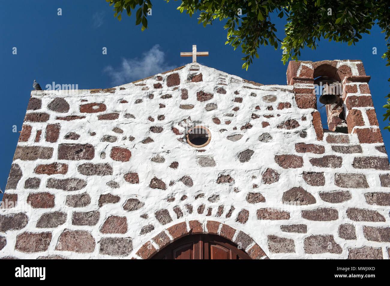 Kirche, Masca, Teneriffa, Kanarische Inseln, Spanien Stockbild