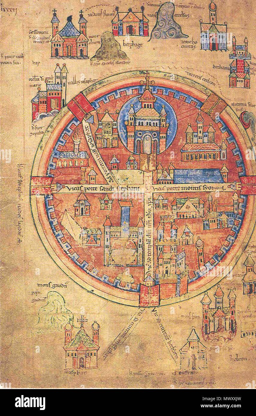 Jerusalem Karte Deutsch.Deutsch Das Upsala Der Kreuzfahrer Jerusalem 13 Jahrhundert