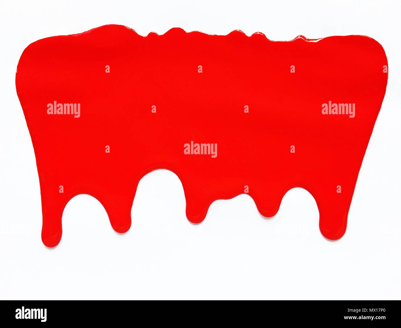 Rote Farbe Tropft Farbe Hintergrund Weisser Hintergrund Stockfoto