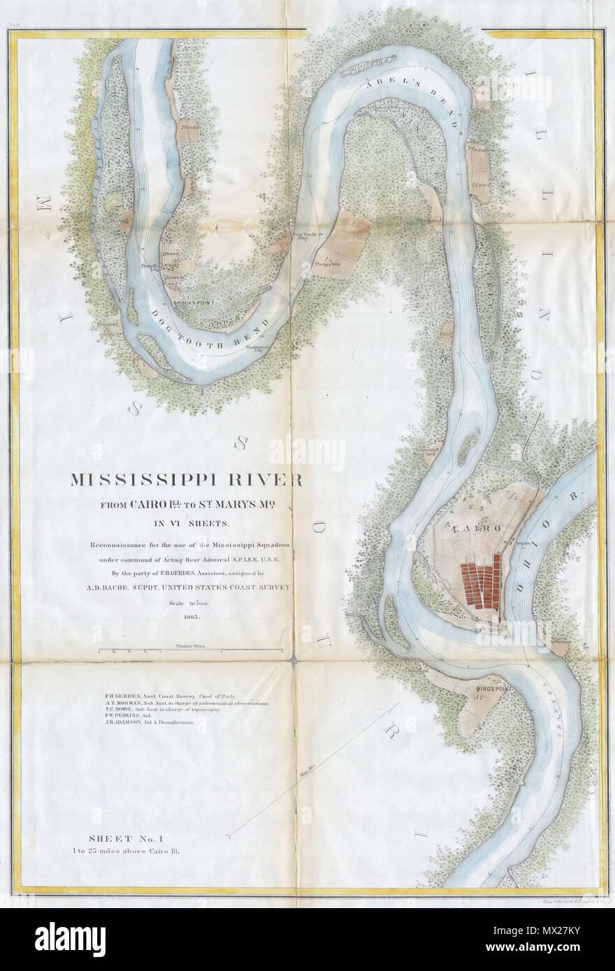 Mississippi River von Kairo aus Illinois zu St. Mary\'s ...