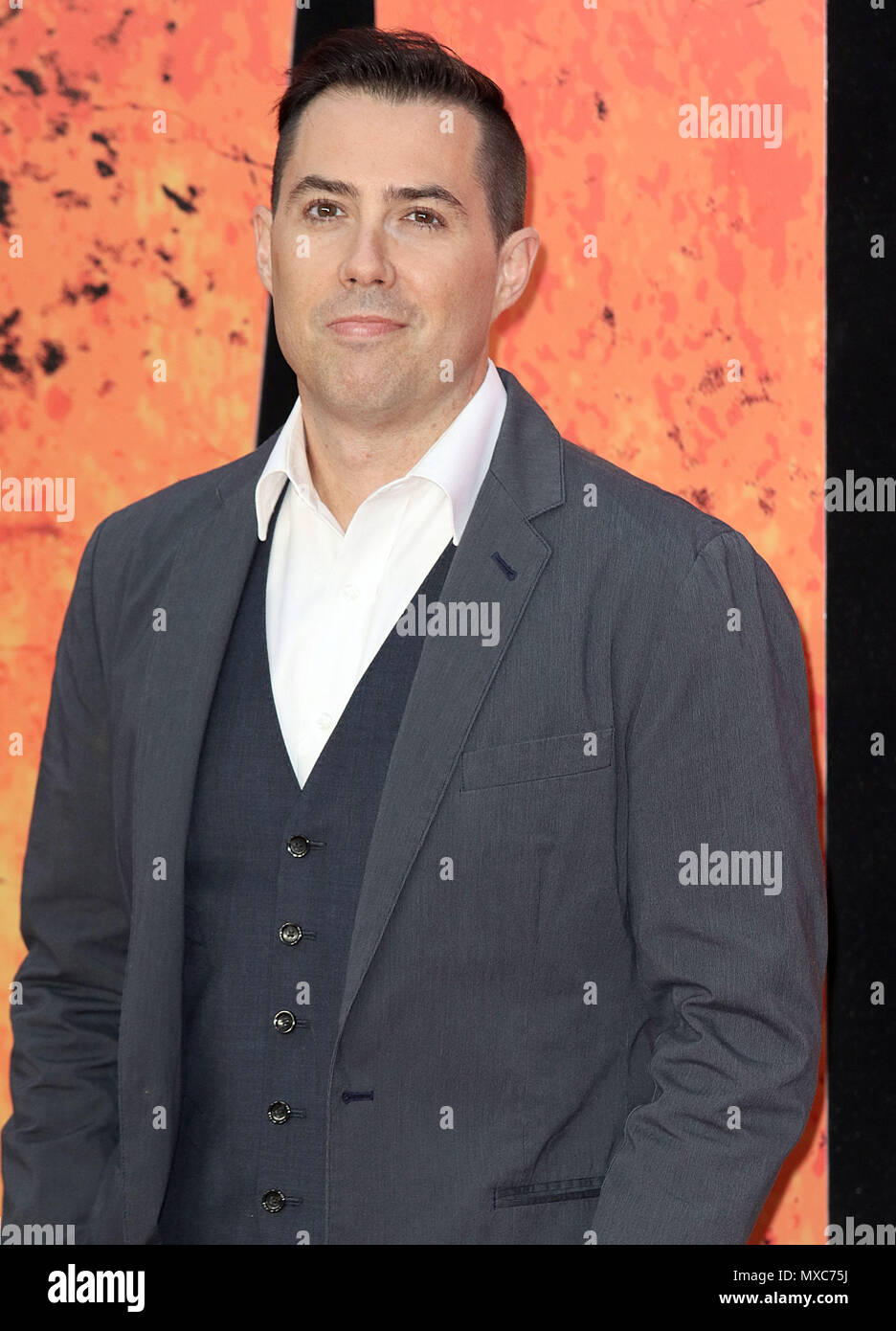 April 11, 2018 - Brad Peyton Teilnahme an 'Rampage Europäische Premiere, Cineworld Leicester Square in London, England, Großbritannien Stockbild