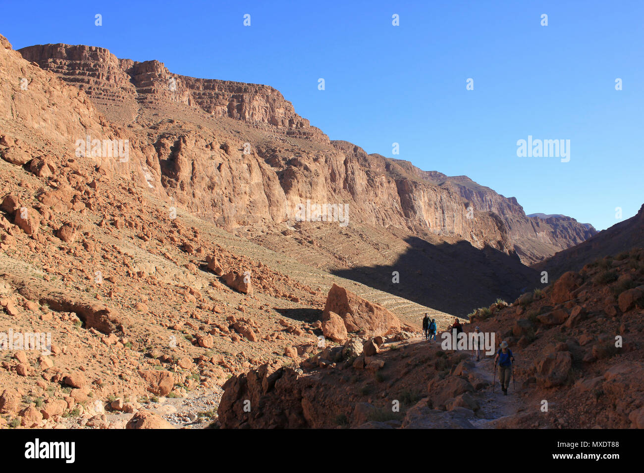 Wandern In Todra Tal Marokko Stockfoto