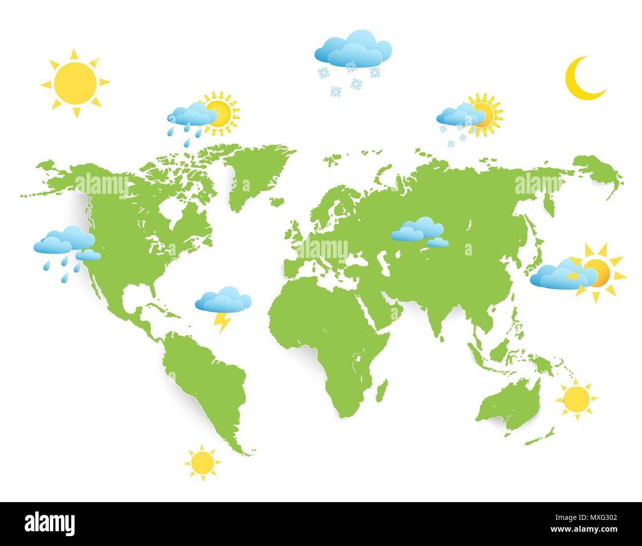 Weltkarte Wetter