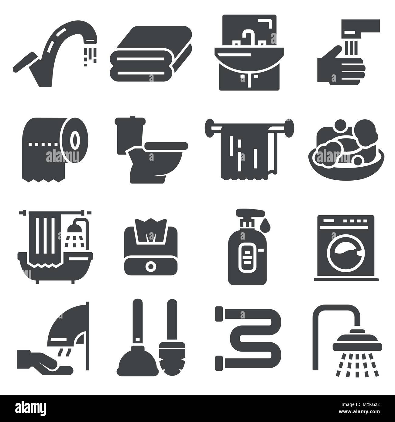 Wc Symbol. Badezimmer Symbol. Toilette Symbol. Vector Illustration