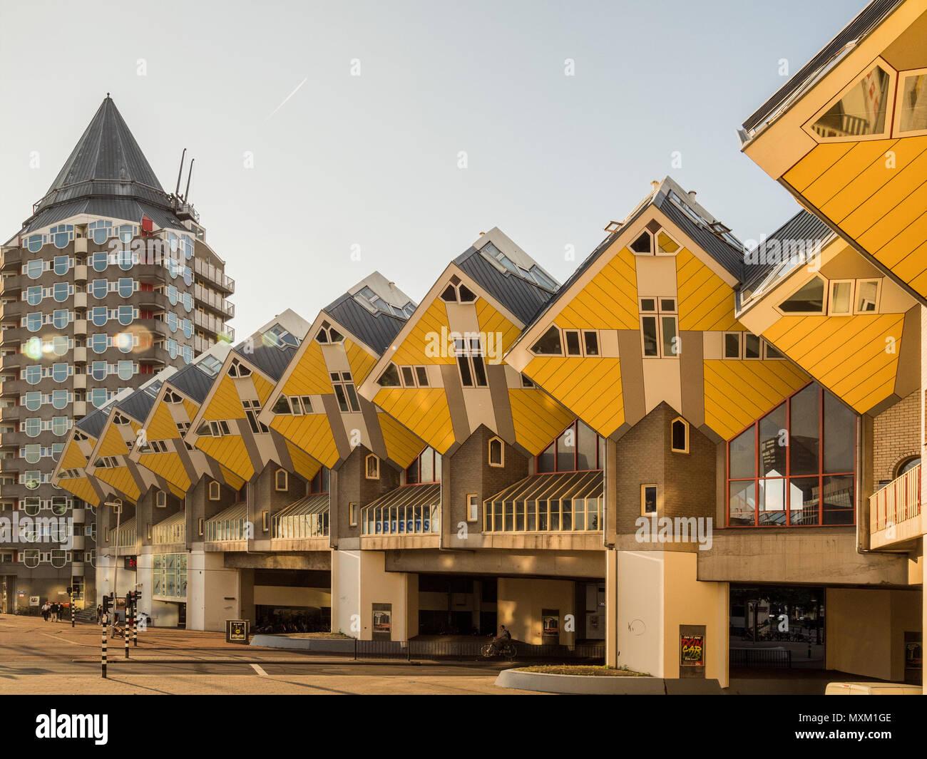 ROTTERDAM, Niederlande - 31. MAI 2018: Cube Häuser ...