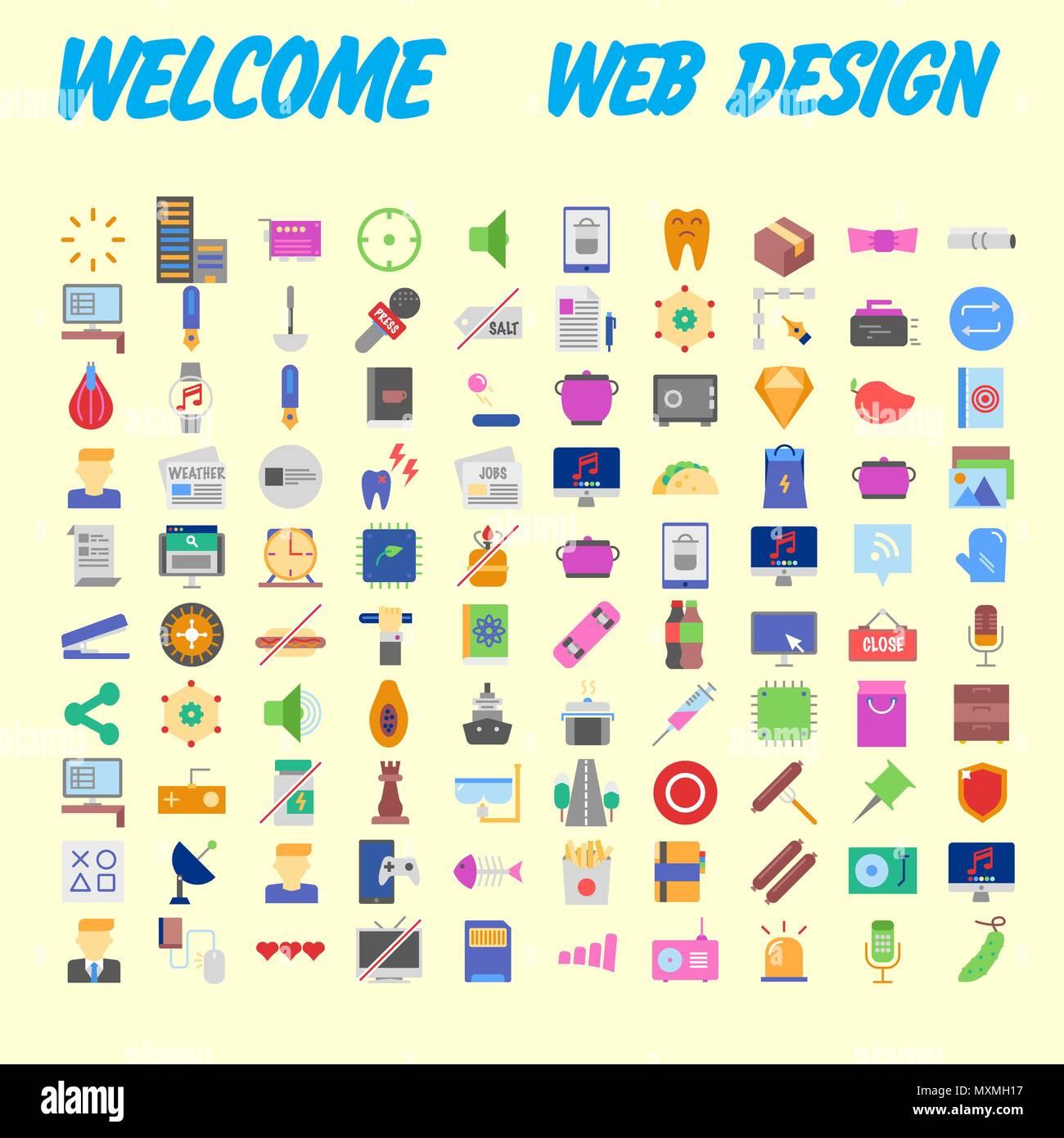 59a6425884ce7c Einfache on-line-Einkaufen Symbole Design. Enthält