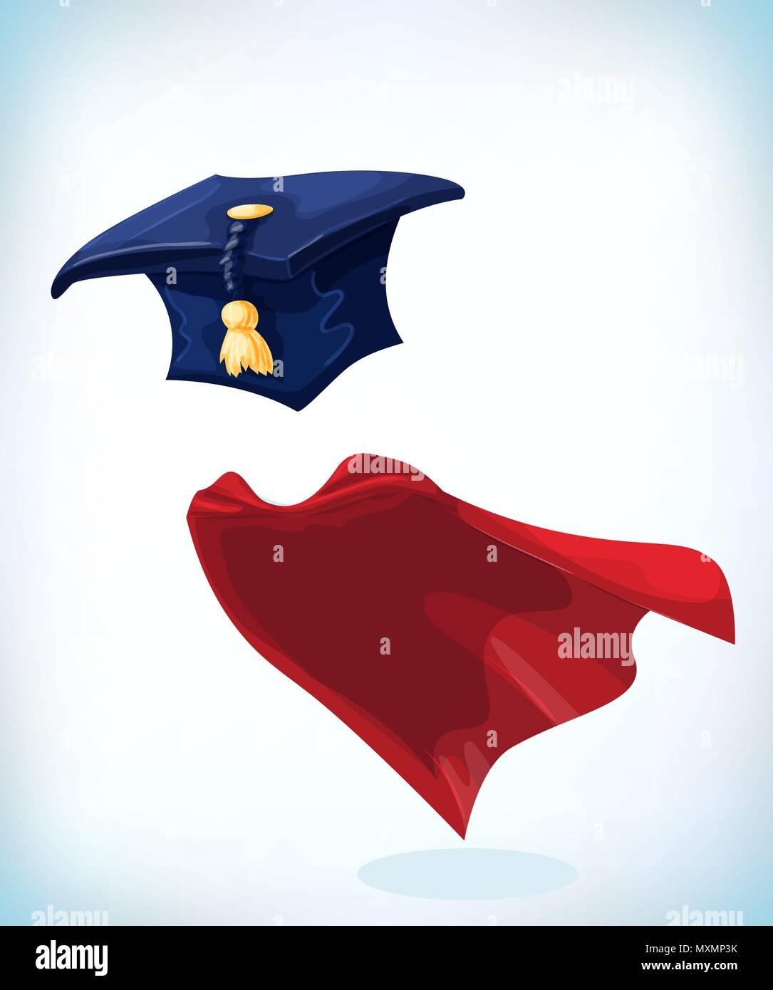 College Alumni Hut Skalenhaube Mit Gold Quaste Maskerade Kostum
