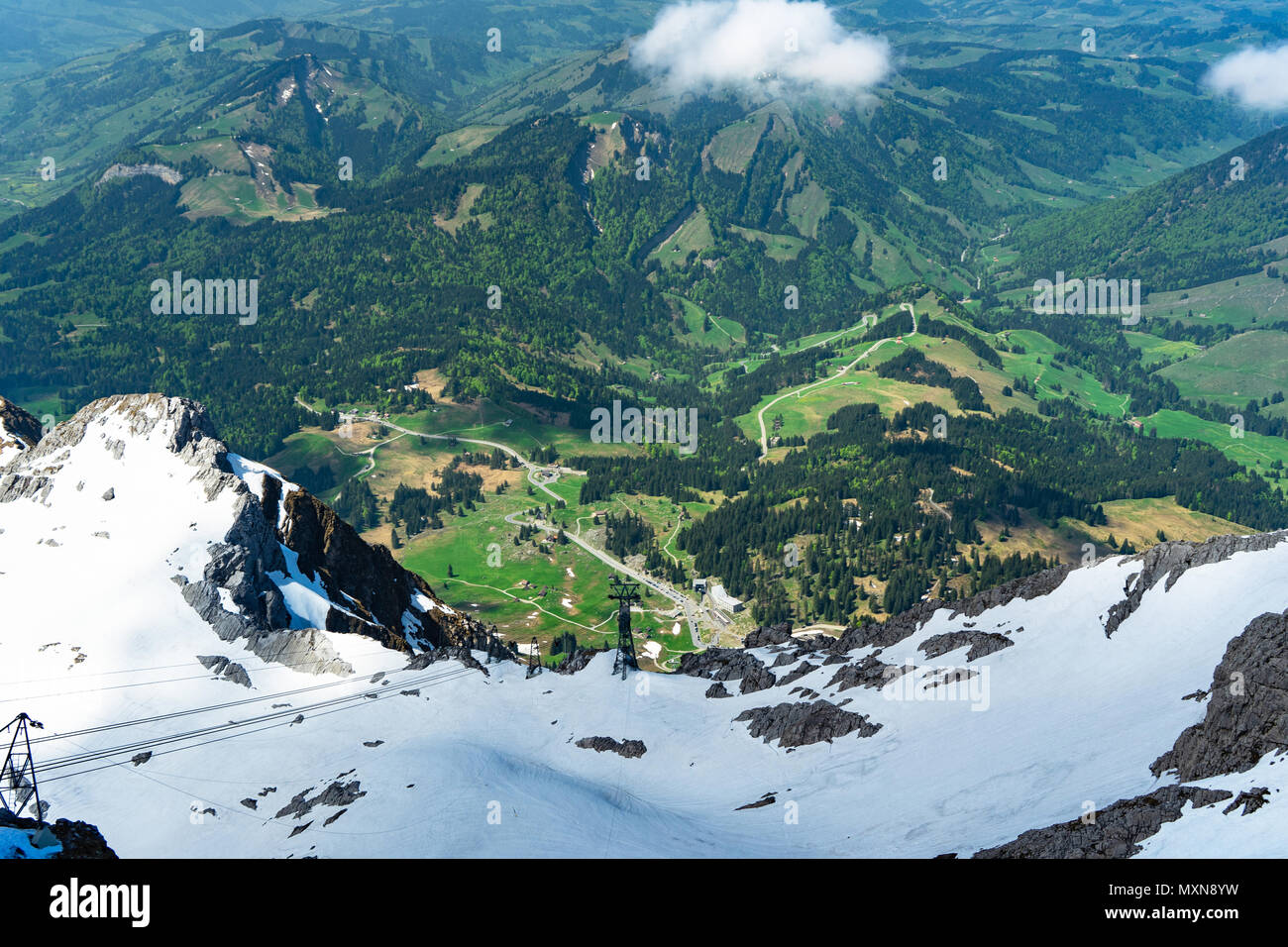 Blick vom Gipfel säntis in der Schweiz Stockbild