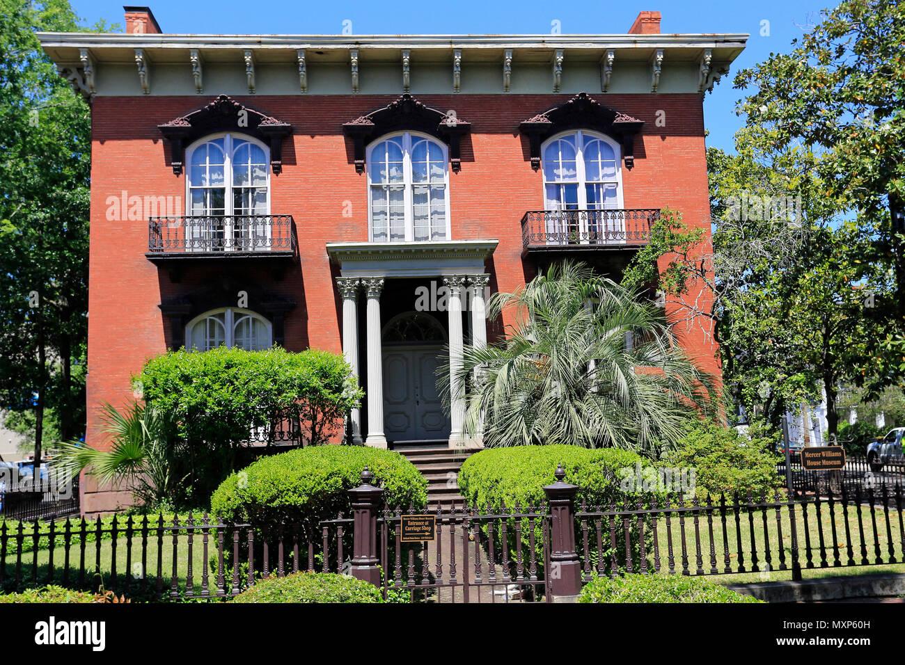 Die Mercer Williams House In Savannah Georgia Usa Stockfoto Bild