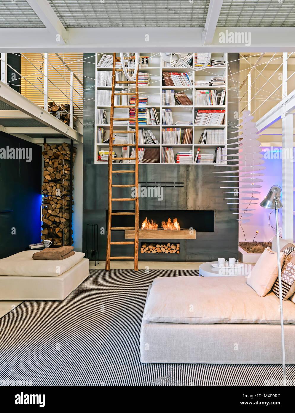 Modernes Wohnzimmer Einrichtung In Den Vordergrund Der Stoff Sofa Im