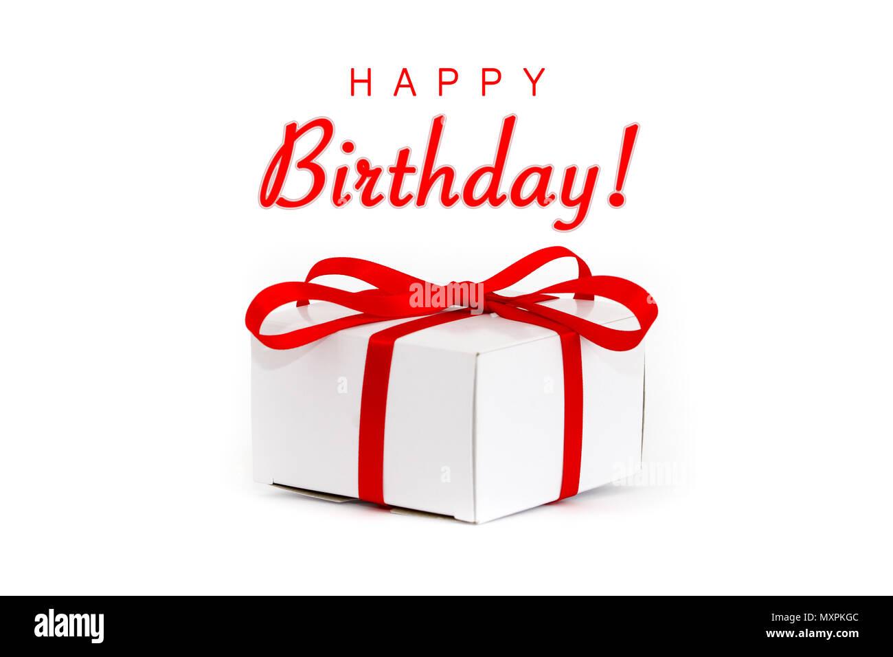 Alles Gute Zum Geburtstag Sms Und Weissen Karton Geschenkkarton Mit