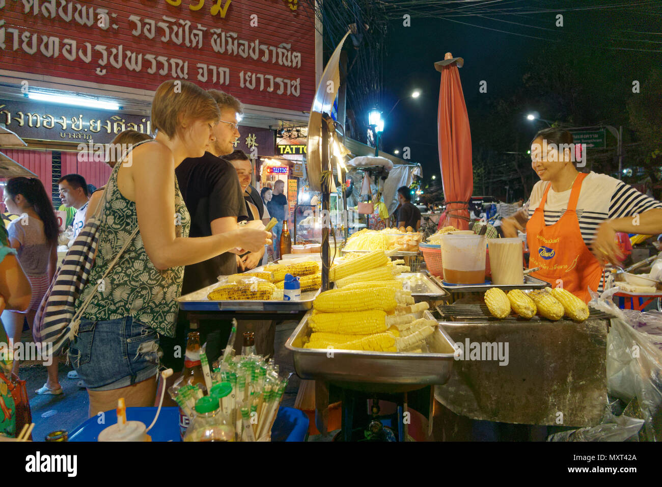 Khao San Road District, Street Food, Bangkok, Thailand, Stockbild