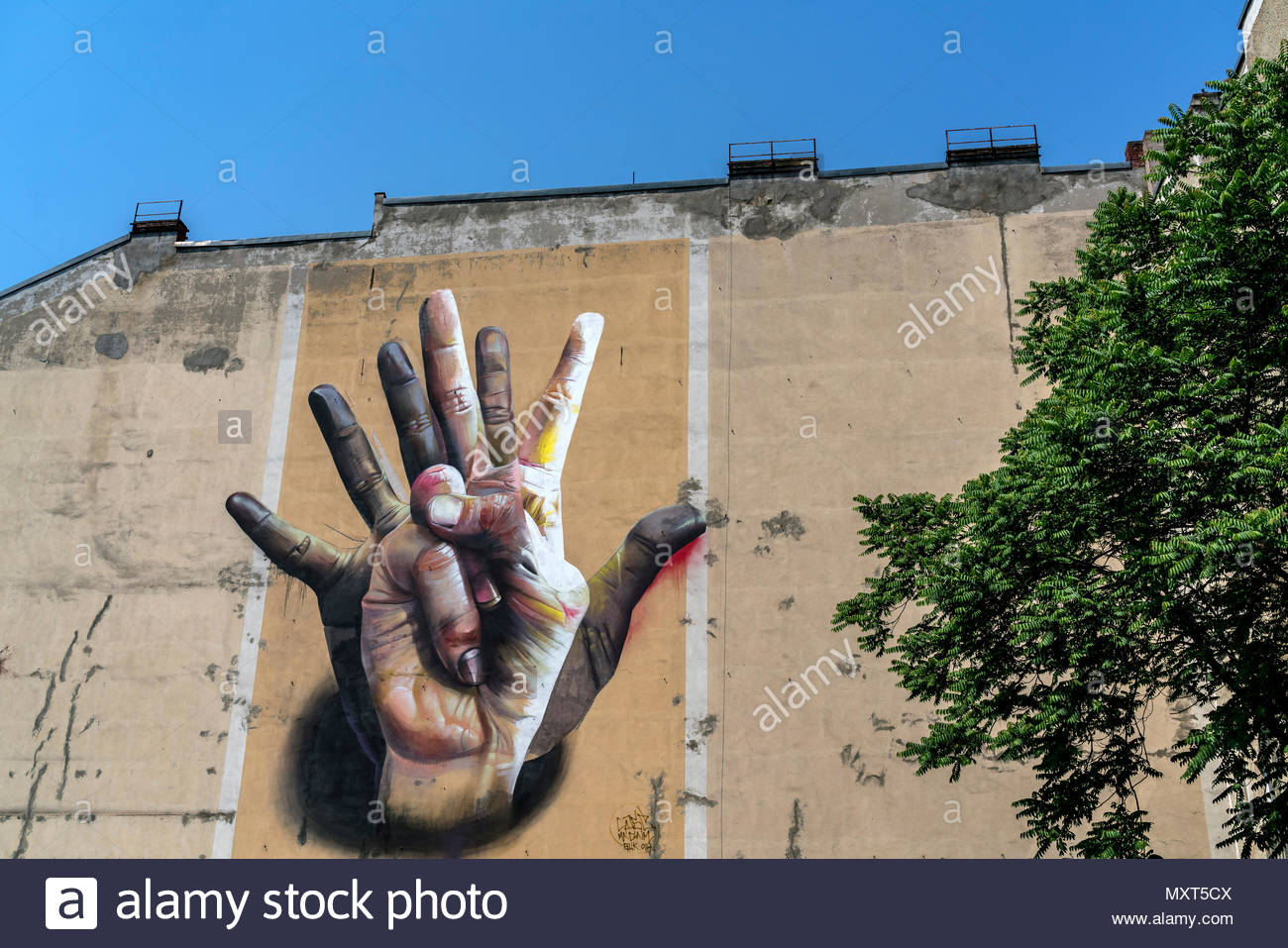 Wall Painting, Graffiti, Kreuzberg, Berlin, Deutschland Stockbild