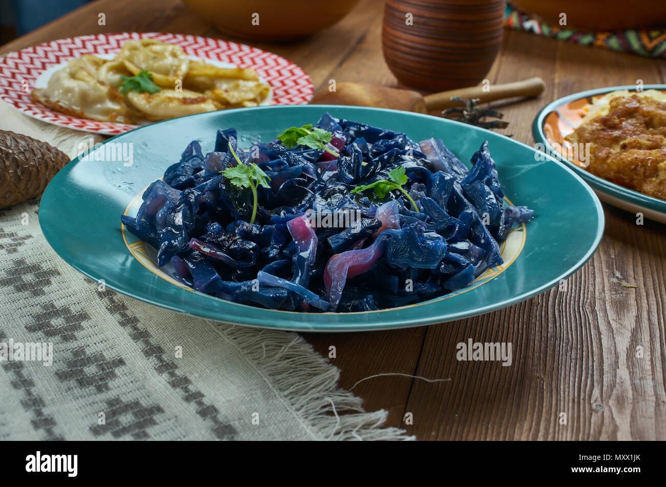 Deutsche Küche, Deutsch Geschmorten Rotkohl, Traditionelle