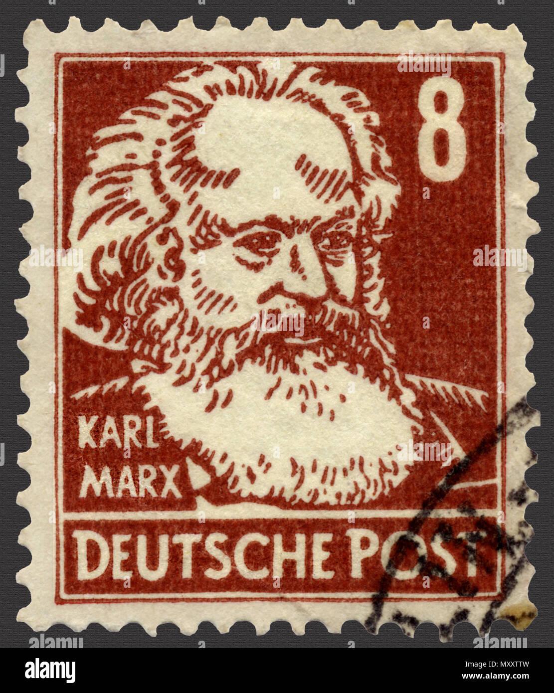 Karl Marx Deutsche Briefmarke Stockfoto Bild 188675001 Alamy