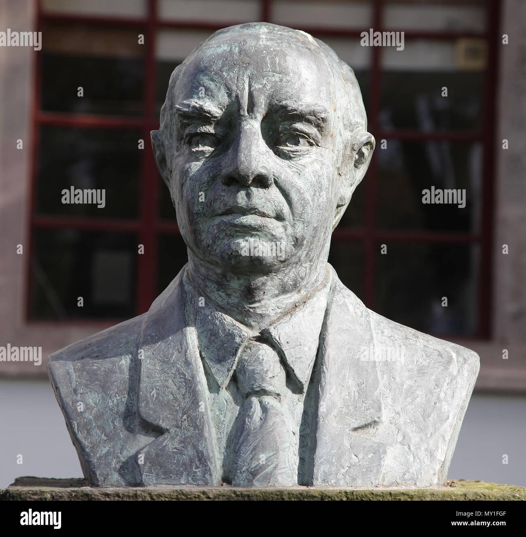 Oscar Vargas Romero 1907-2002 Denkmal in Quito, Ecuador Stockbild