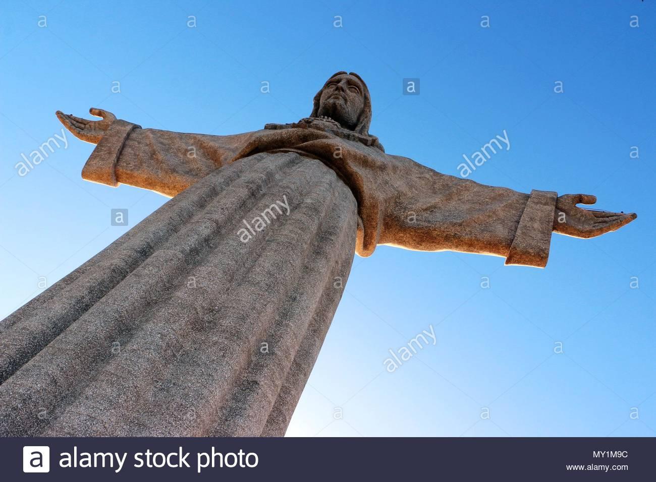 Die Cristo Rei Monument, das von Jesus Christus in Lissabon, Portugal. Stockbild