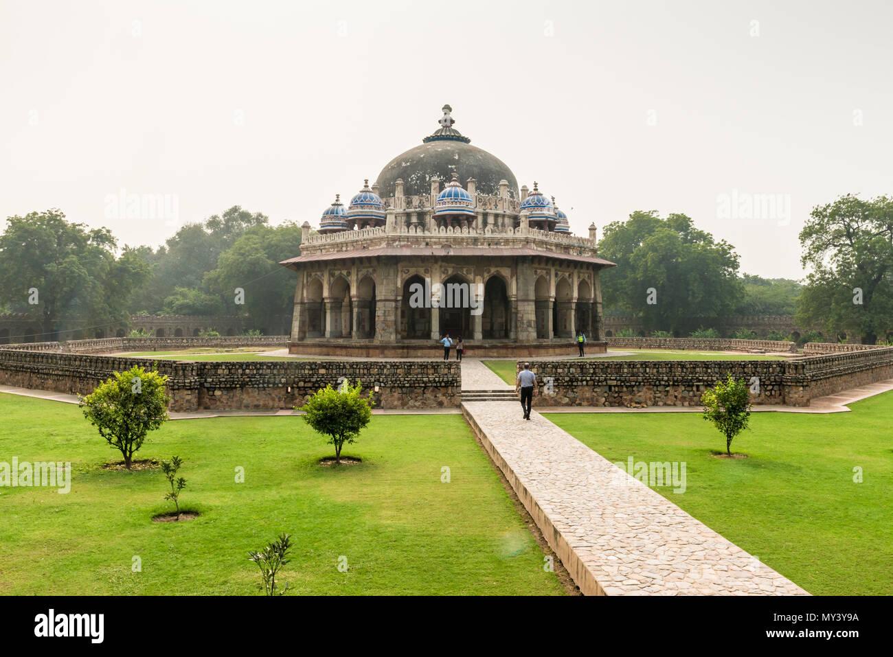 Humayuns Grab in Neu Delhi Stockbild