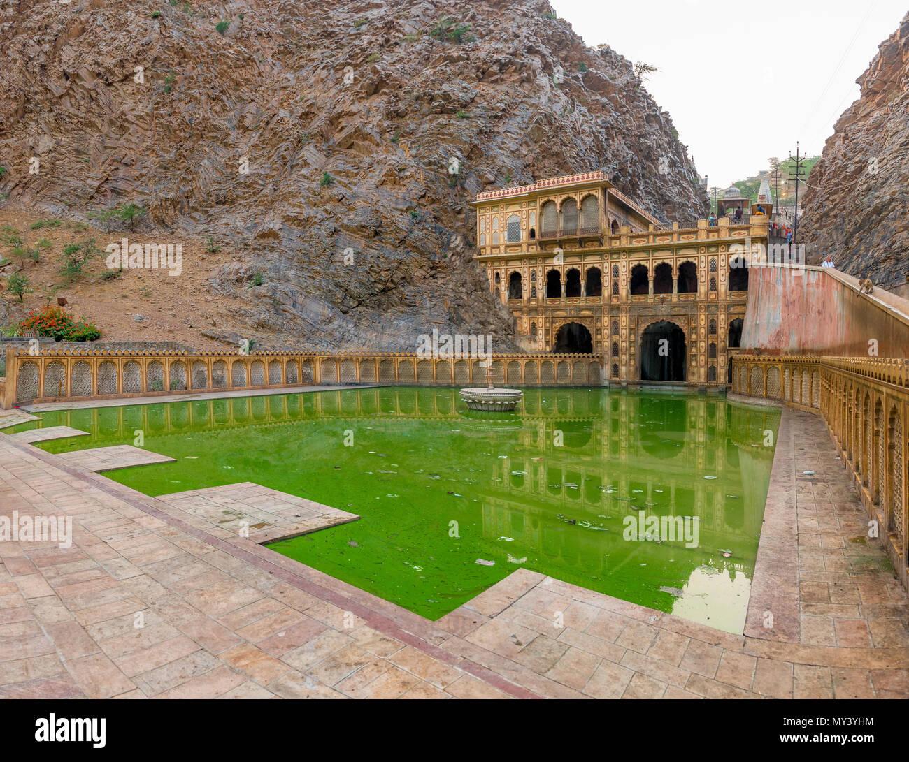 Galta Ji-Tempel in den Vororten von Jaipur Stockbild