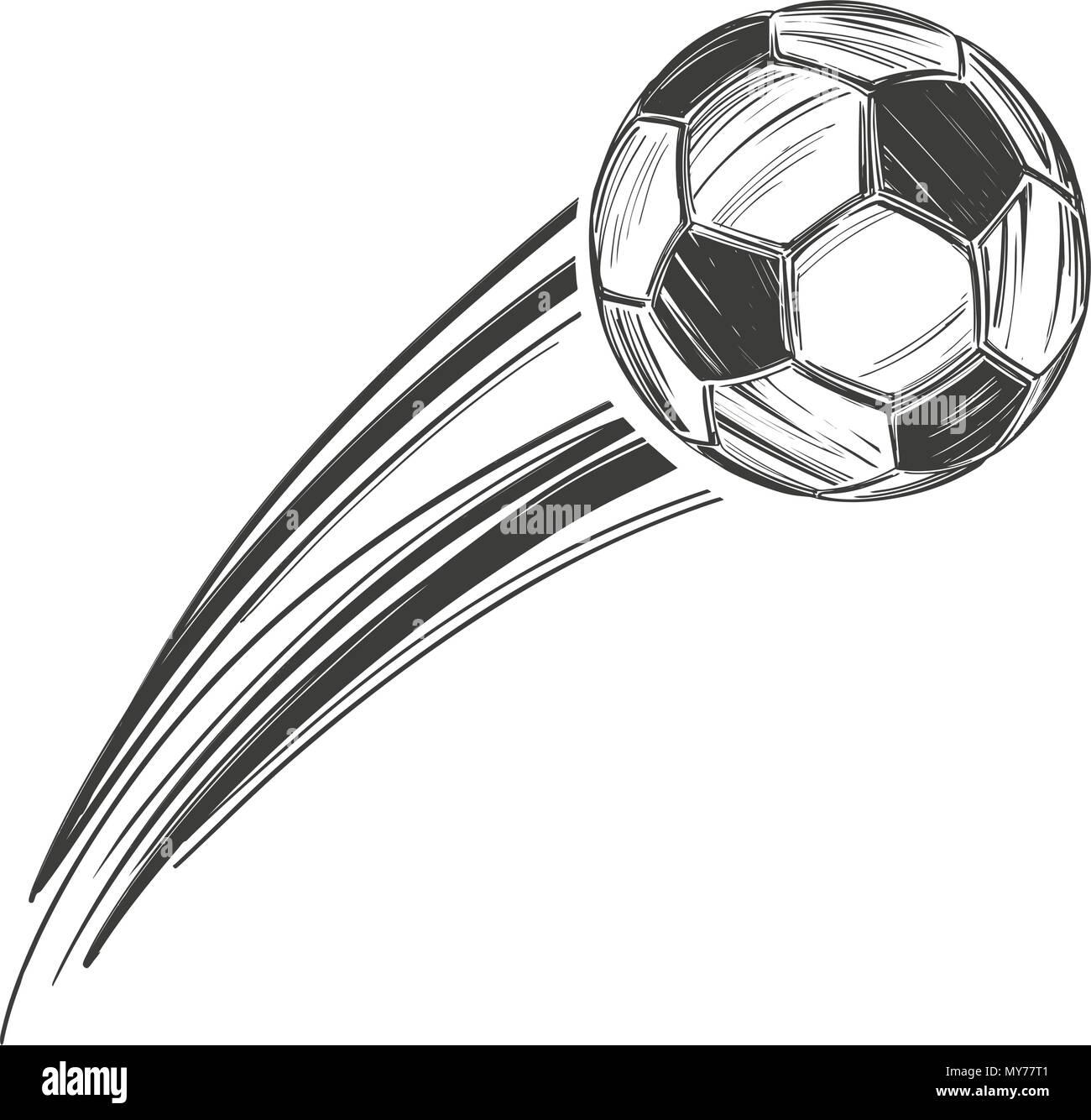 Fussball Fussball Sport Spiel Kalligraphische Texte Emblem