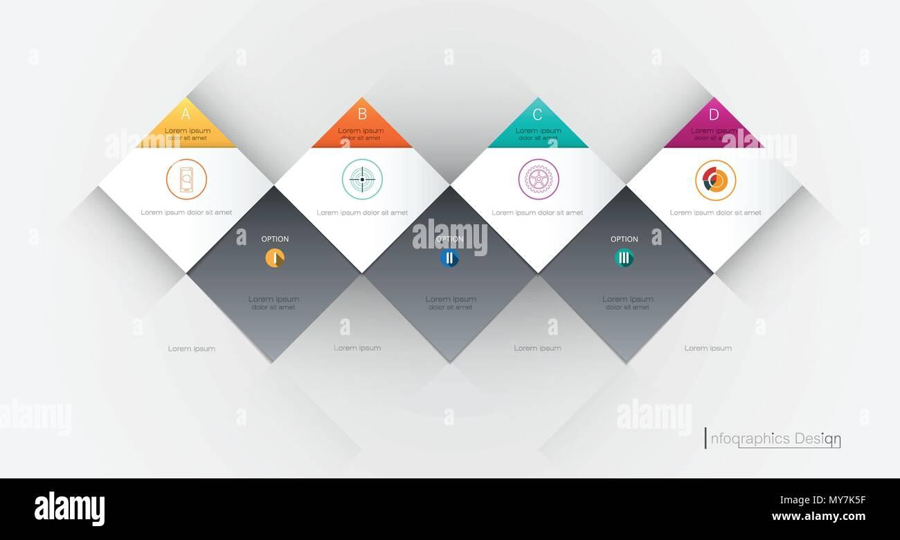Vektor Infografik 3d geometrische Label, Template Design ...