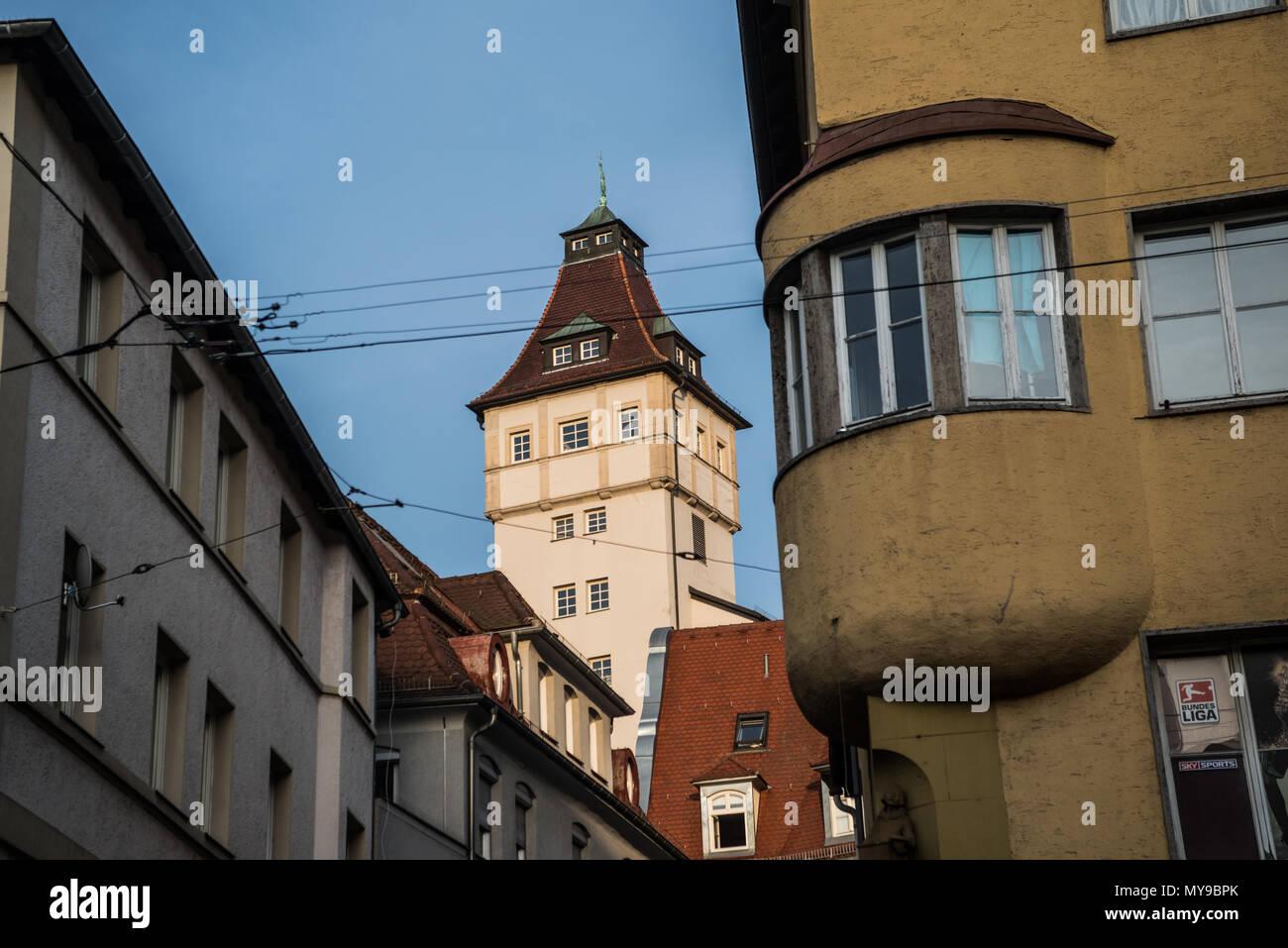 Stuttgardt, Deutschland, Stadtzentrum Stockbild