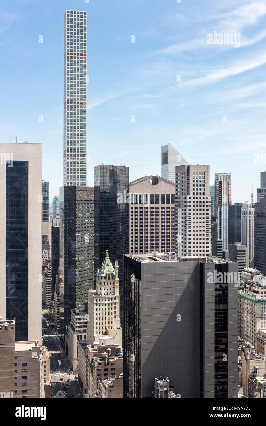 """Stadtlandschaft mit Wolkenkratzern in New York City, USA' Stockbild"