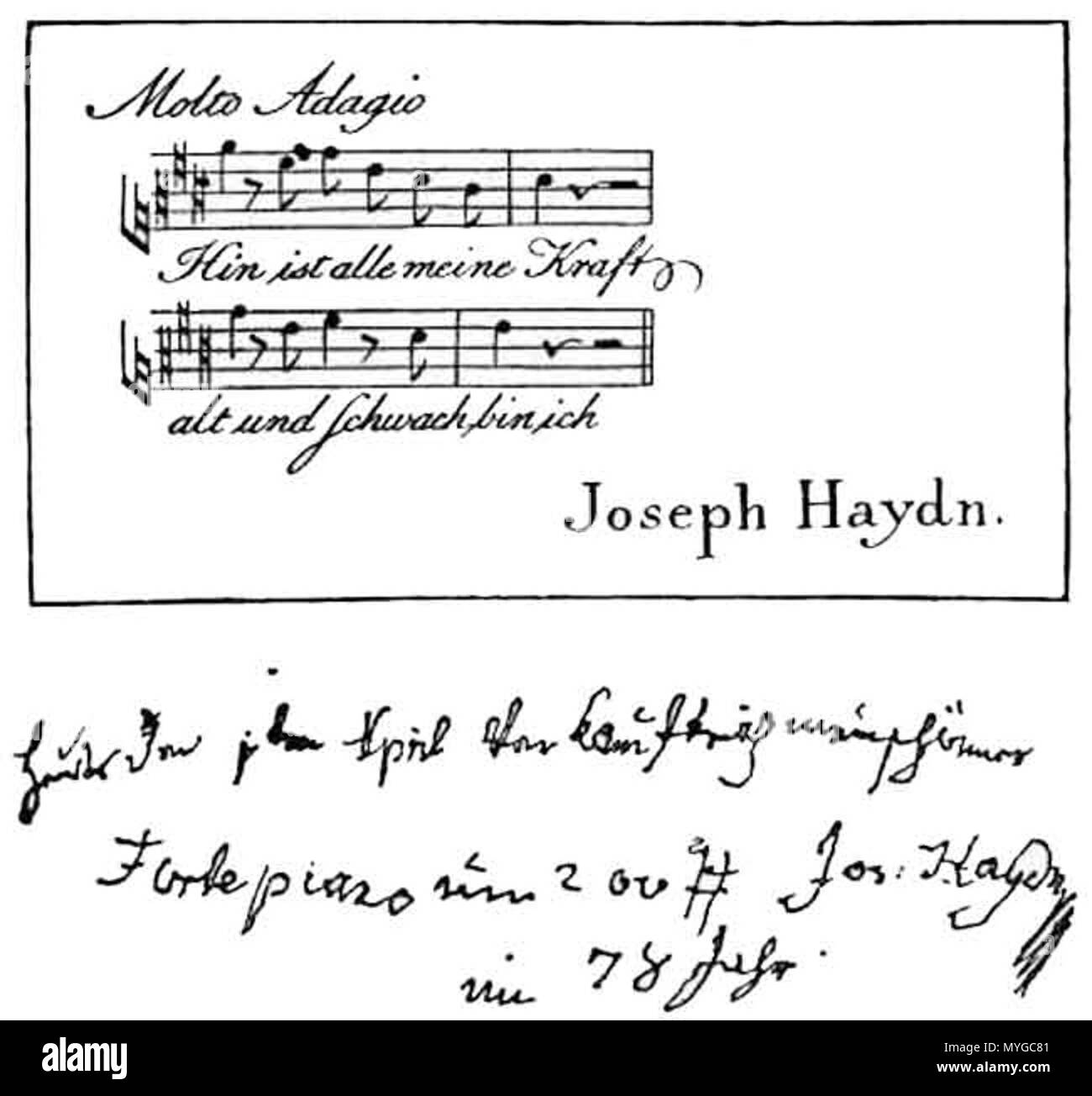 Englisch Letzte Visitenkarte Von Joseph Haydn Die Ersten