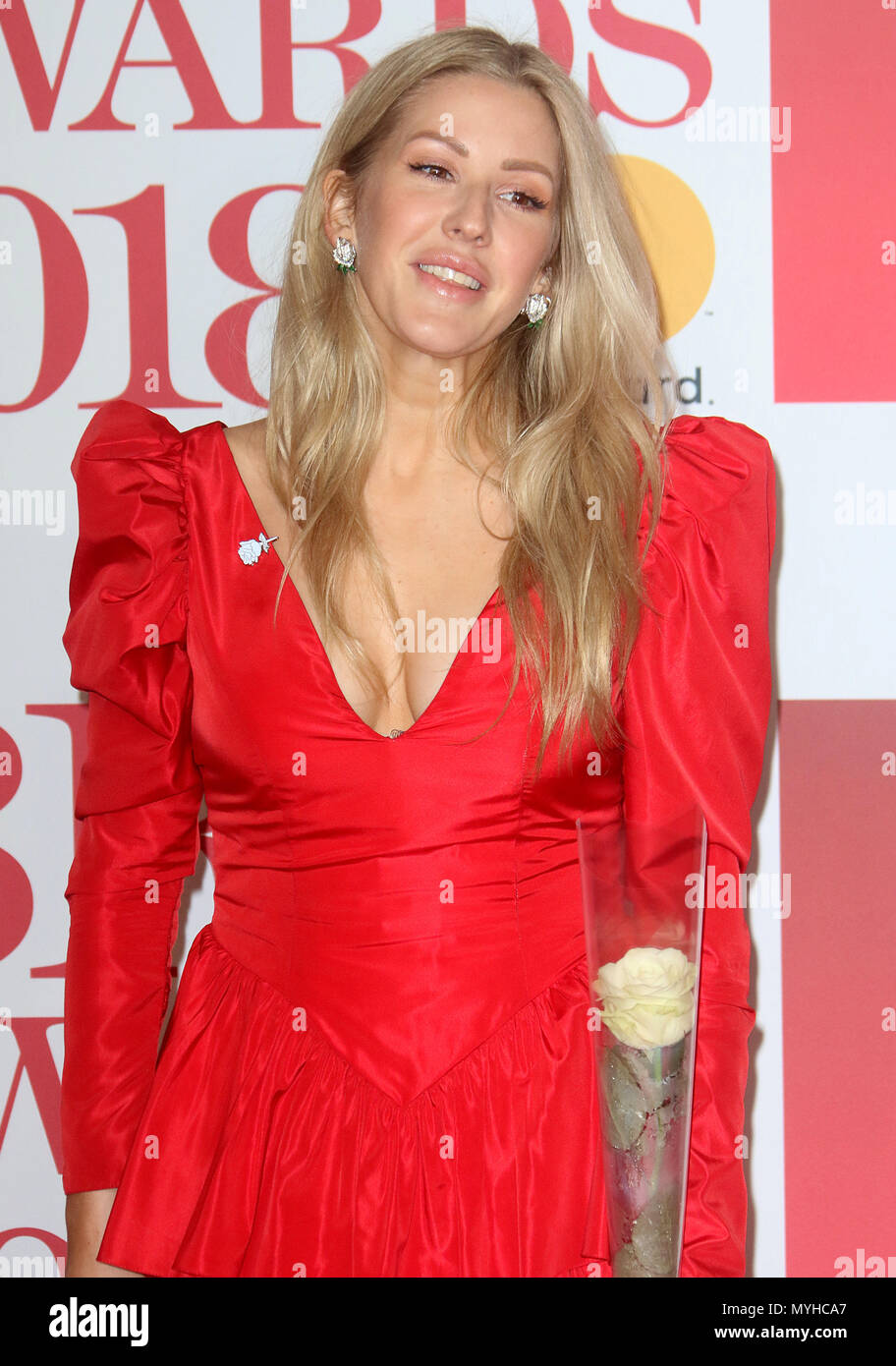 Dec 21, 2018 - Ellie Goulding an der BRITS Awards 2018 in der O2 Arena in London, England, Großbritannien Stockbild