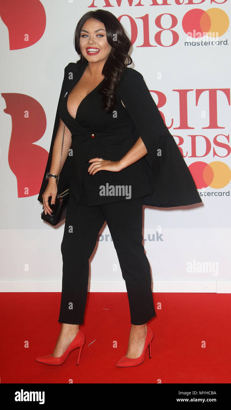 Dec 21, 2018 - Scarlett Moffatt an der BRITS Awards 2018 in der O2 Arena in London, England, Großbritannien Stockbild