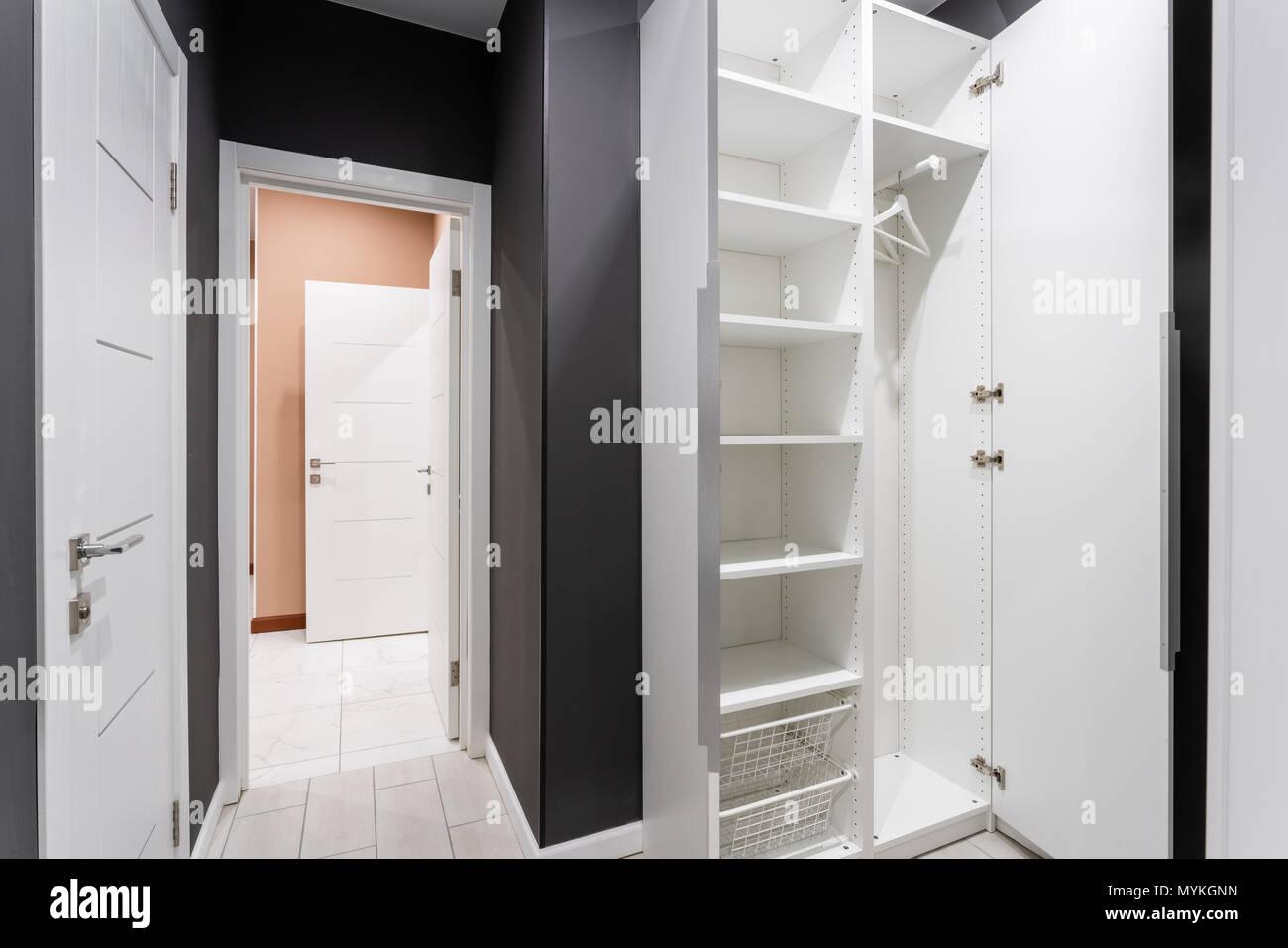 Innenraum Der Modernen Leeren Kleiderschrank Zimmer Hotel Modern