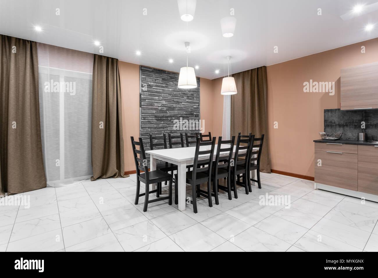 Esstisch für 10 Personen. Moderner Minimalismus style Salon ...