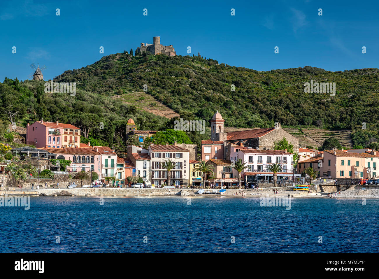 Collioure, Pyrénées-orientales, Frankreich Stockbild
