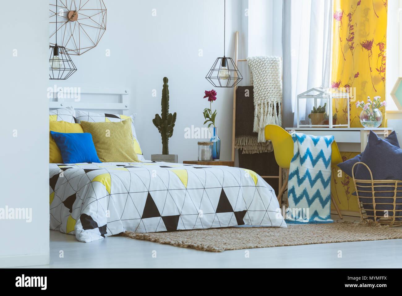 Einzigartiges Schlafzimmer inspiration, gelb Pop von Farbe ...
