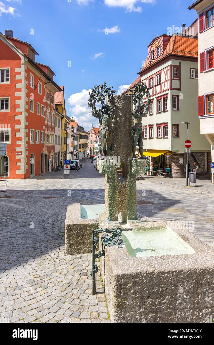 Ravensburg, Baden-Württemberg, Deutschland - Blick nach unten Market Street (marktstraße). Stockbild