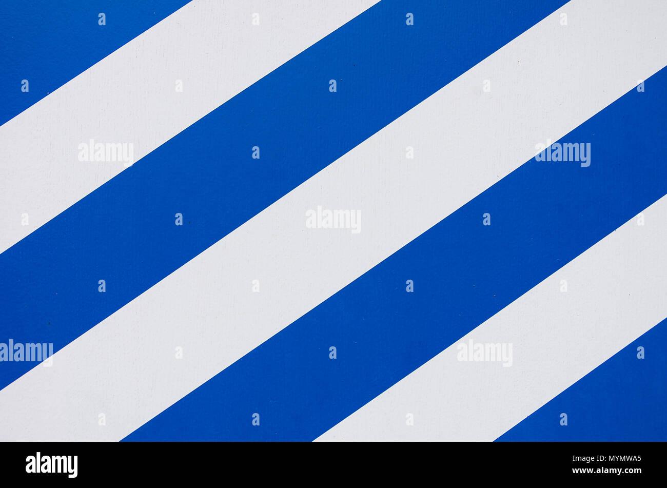 Blaue und weiße Streifen Muster. Stockbild