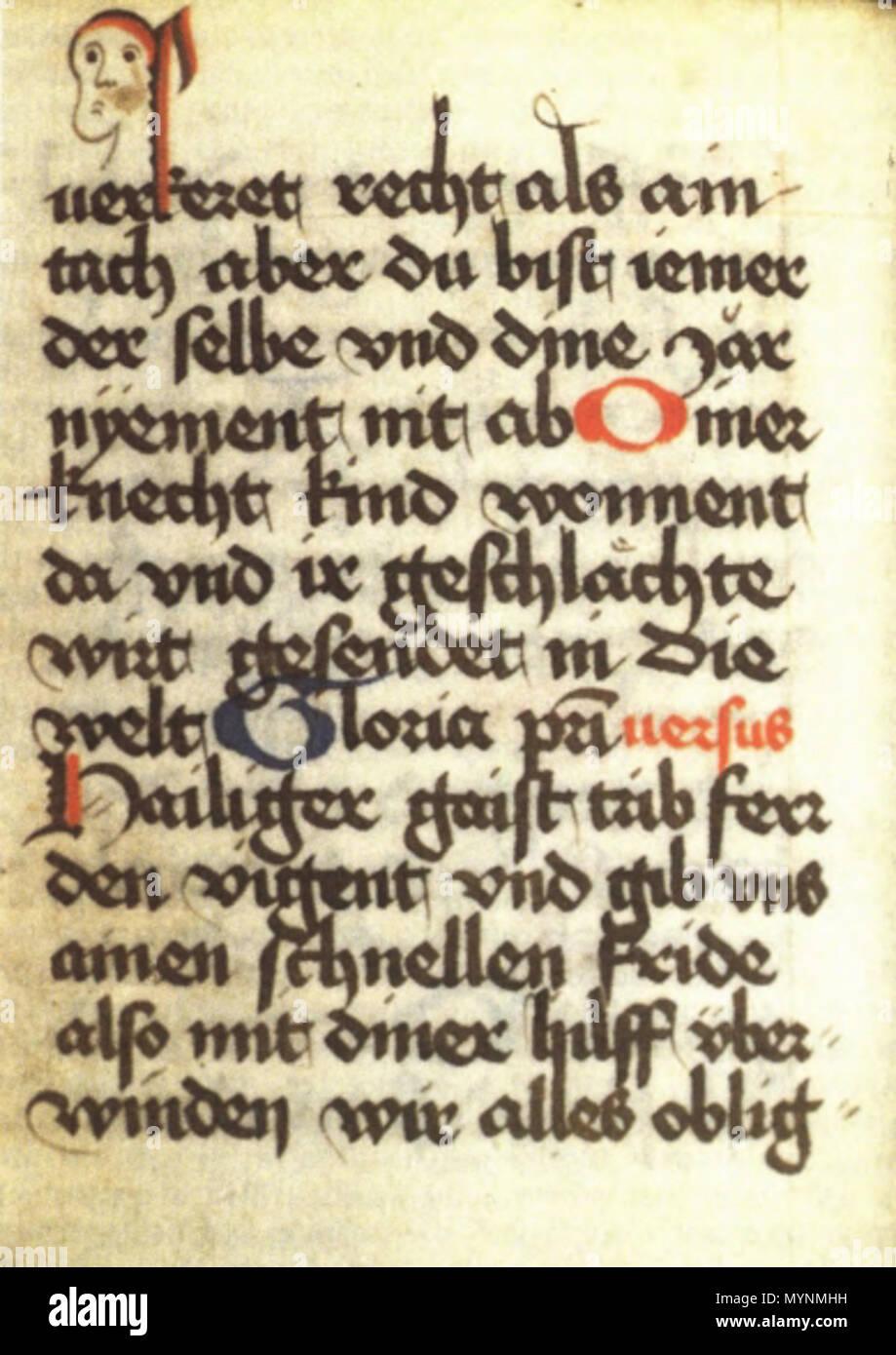 . Die rastatter Stundenbuch, Rastatt, Bibl. des Ludwig-Wilhelm-Gymnasiums, Cod. K 173. 2 Lehrwerk 15. Jahrhundert. Unbekannt 447 Rastatter stundenbuch Stockbild