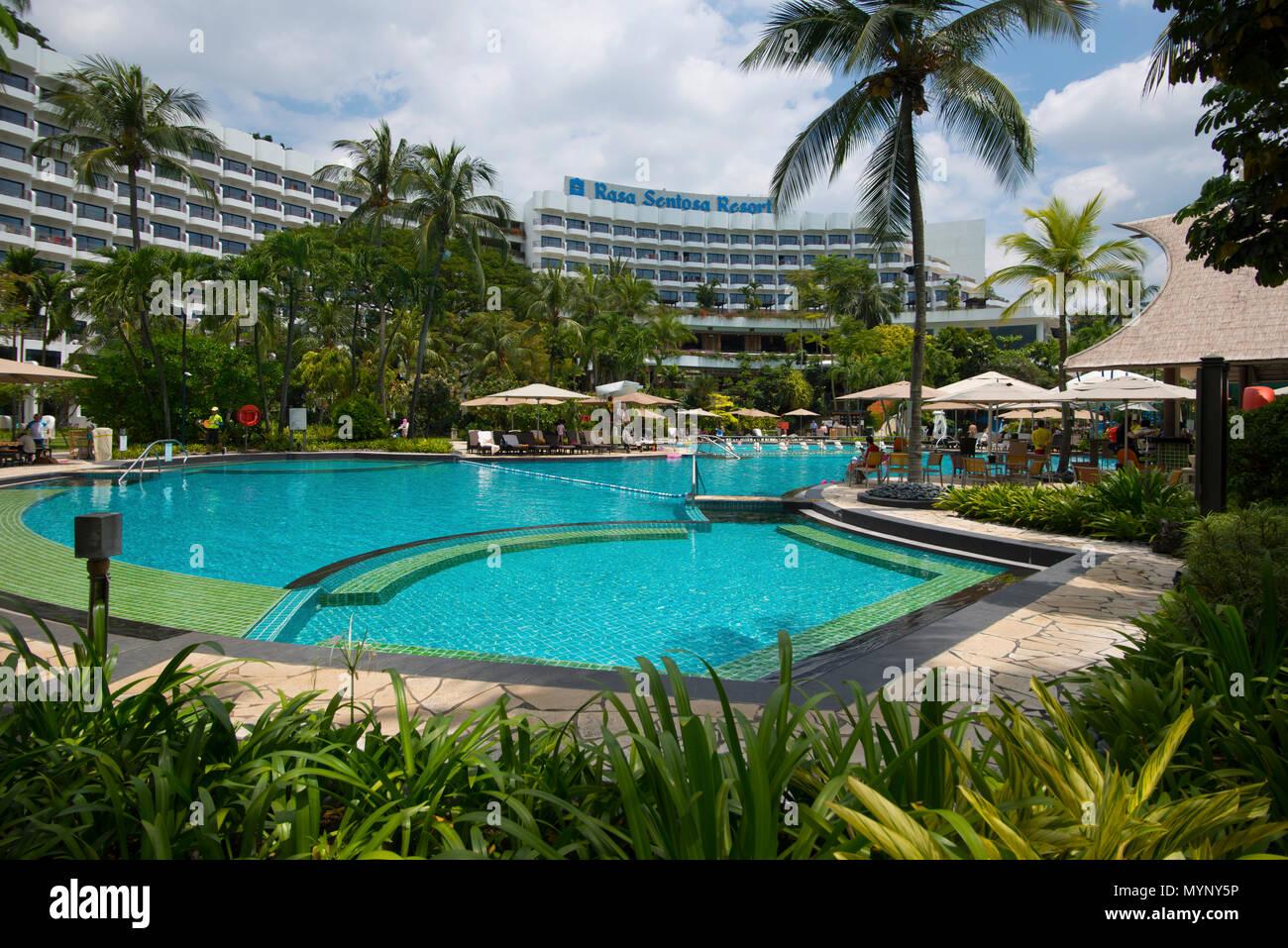Shangri La Rasa Sentosa Resort Spa Singapore Stockfoto Bild