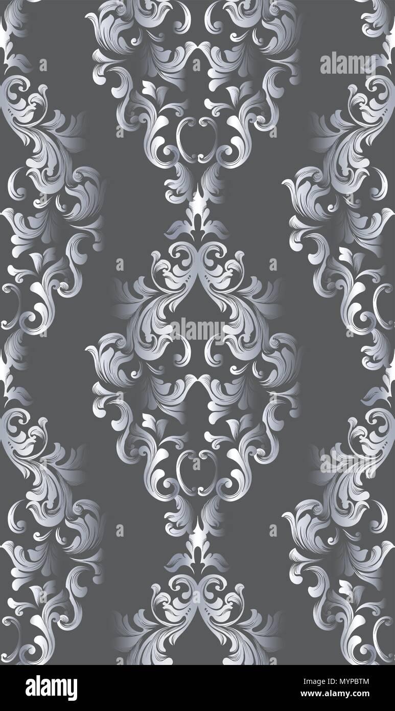 Jahrgang Alte Papier Textur Vektor. Luxus Barocke Muster Tapete Ornament  Dekor. Textil , Gewebe , Fliesen. Dunkle Farben
