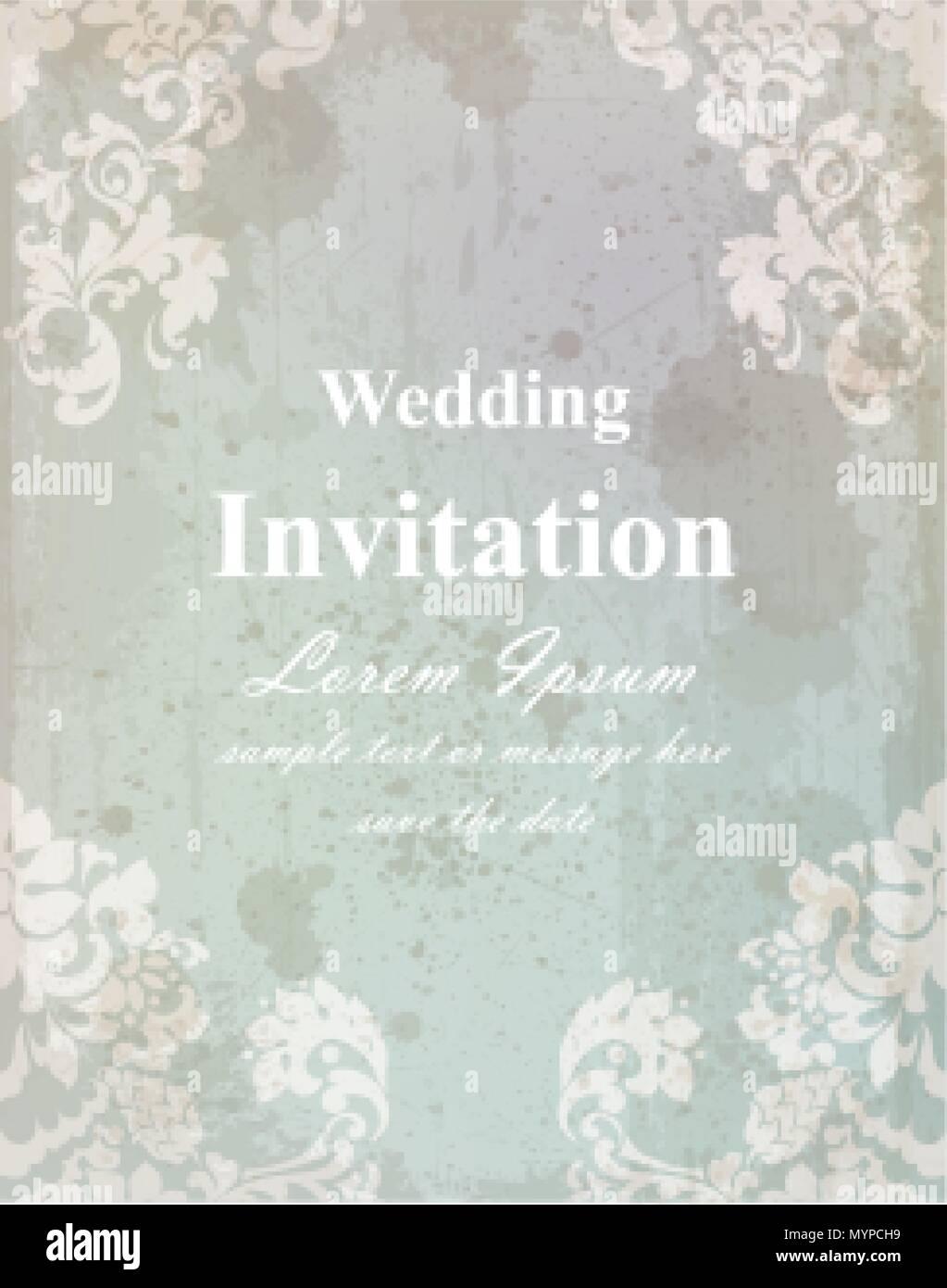 Vintage Hochzeit Einladungskarte Barocke Konigliche Einrichtung