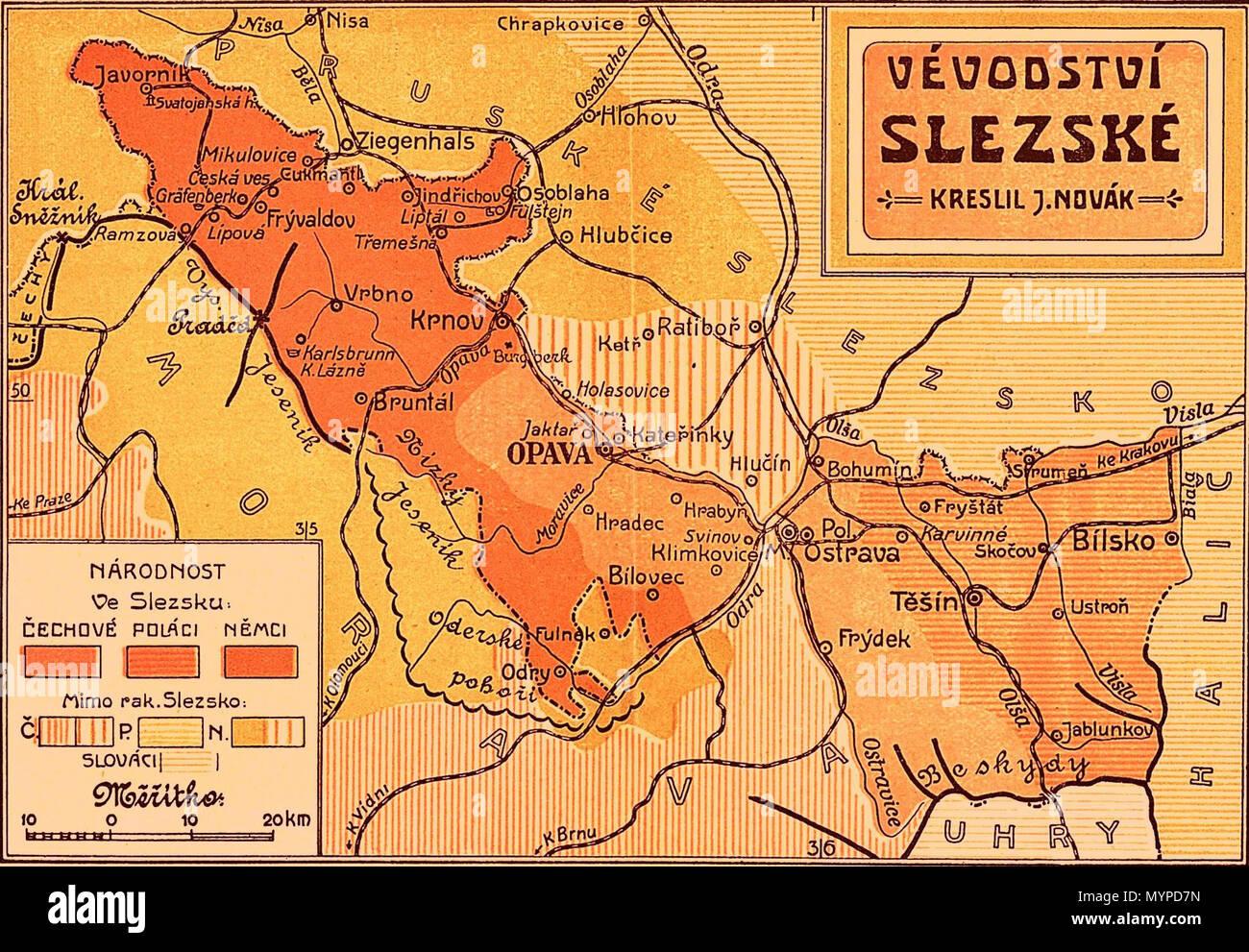 Polen Schlesien Karte.Karte Der österreichischen Herzogtum Schlesien Mit Vorherrschenden