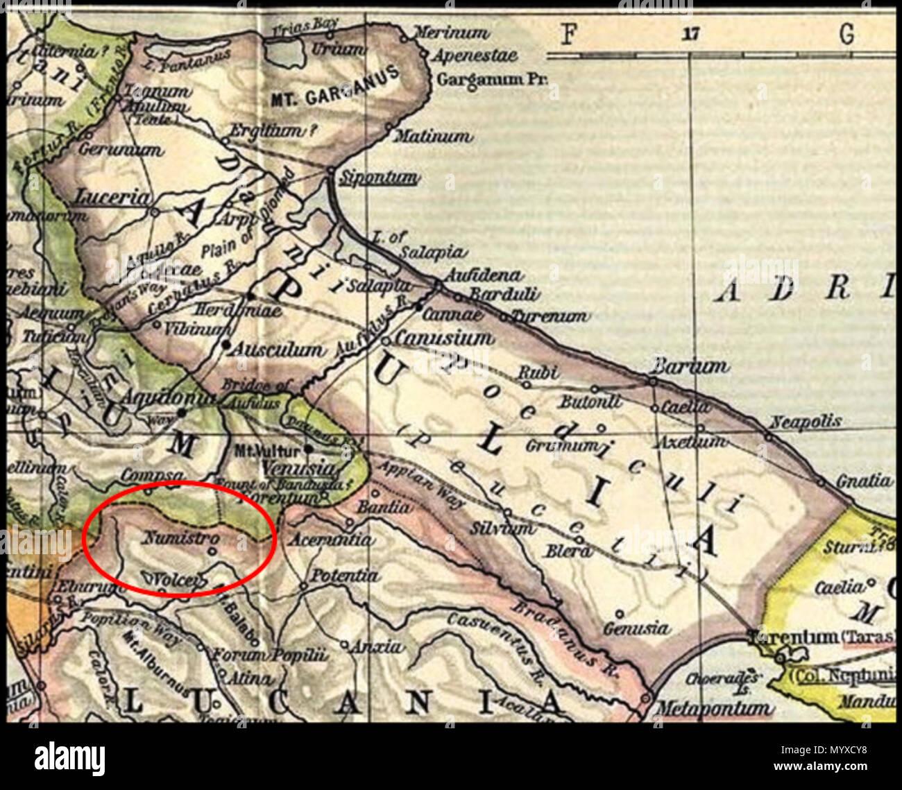 Apulien Karte Italien.Englisch Karte Von Apulien Aus Alten Public Domain Karte Von