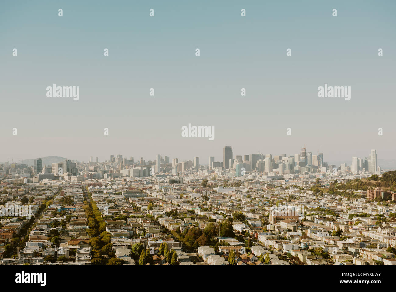 San Francisco anzeigen Stockbild