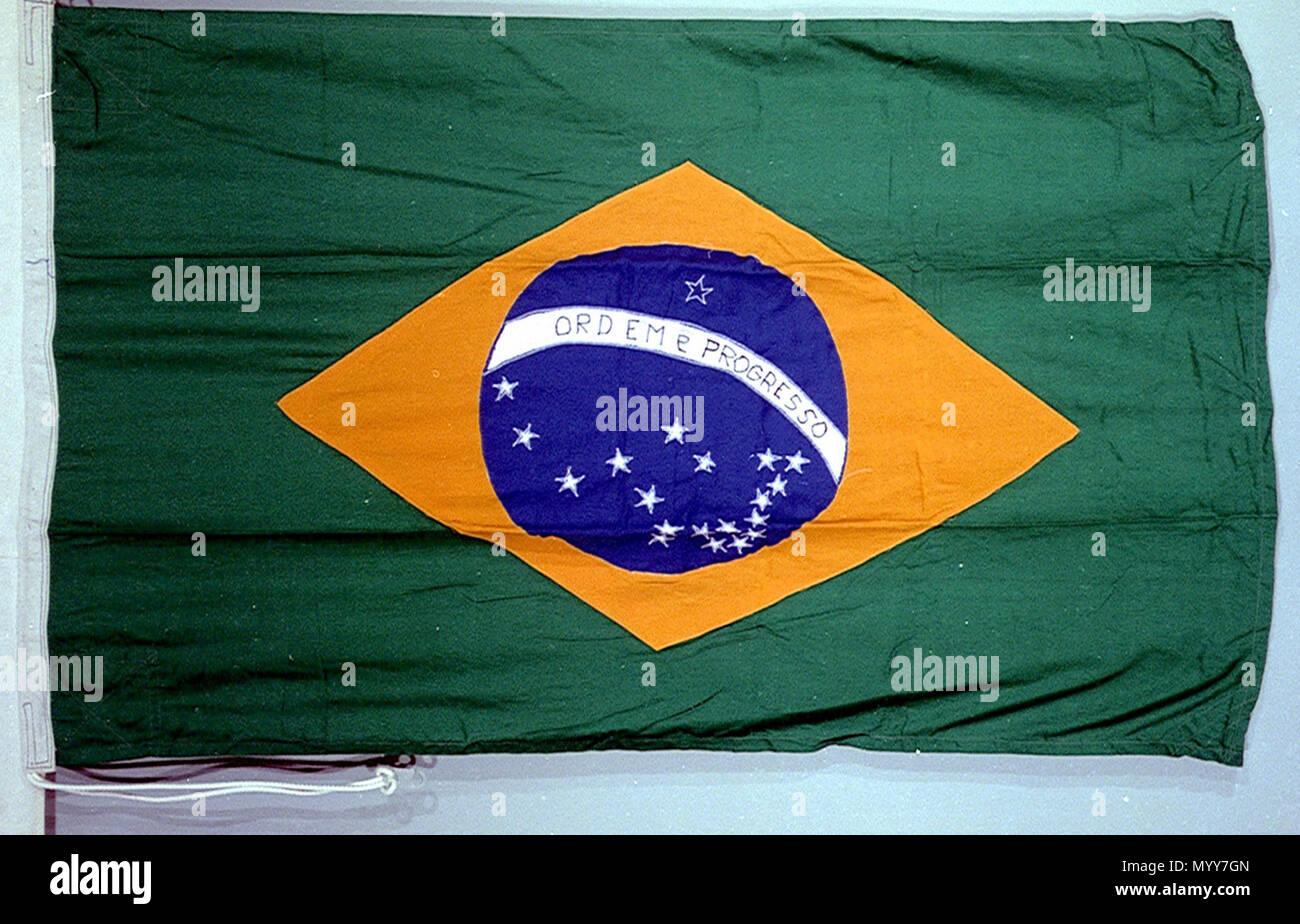 Englisch Nationale Flagge Von Brasilien Nach 1968 Nationale