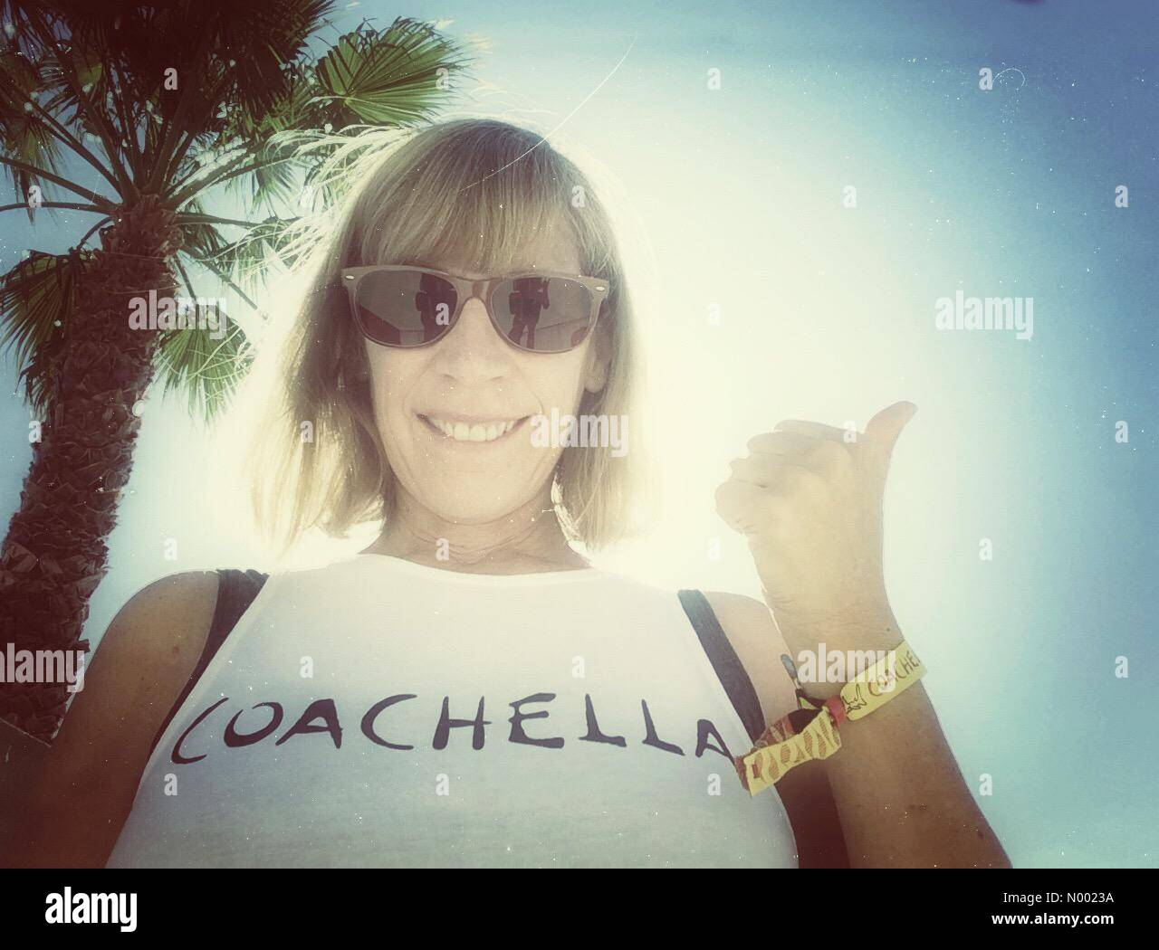 Indio, Kalifornien USA zeigt 9. April 2015 Selfie, bin ich bereit für das Coachella Valley Music and Arts Festival, Stockbild