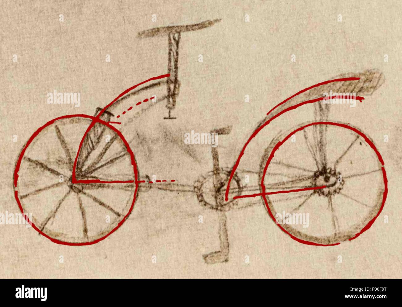 Italiano La Cosiddetta Bicicletta Di Leonardo Da Vinci Con Il
