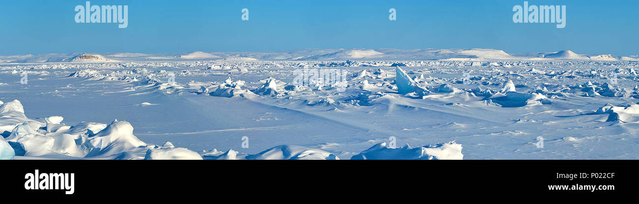 Arktische Landschaft im Territorium Nunavut, Kanada   Arktischen Zone im Nunavut Territory, Kanada Stockbild