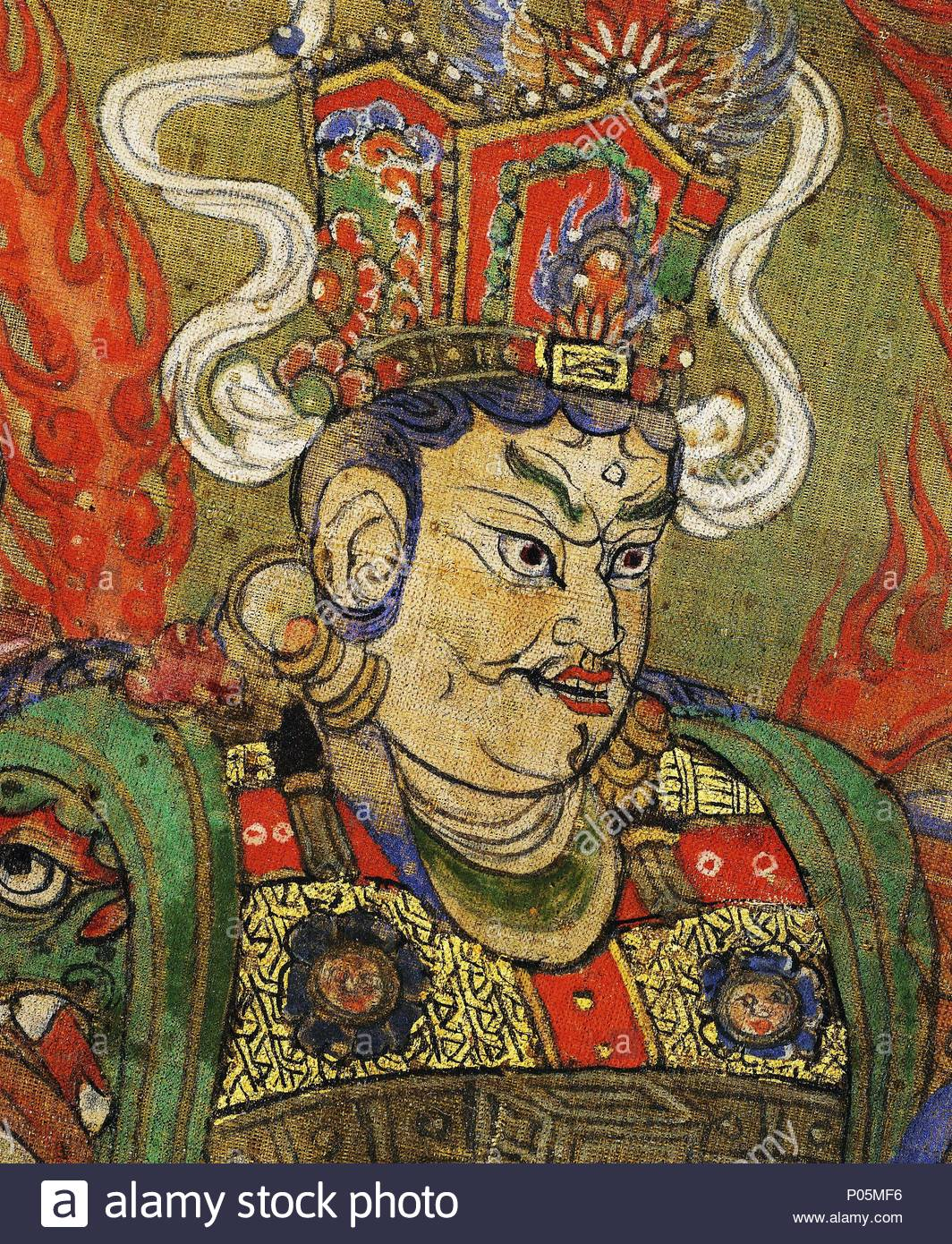 Leiter Von Vaishravana Guardian Der König Des Nordens Er Ist Der